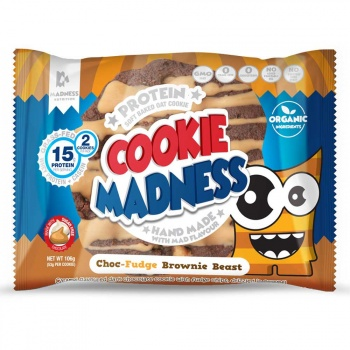 картинка Madness Cookies Fudge Choc-Chip Hazelnut 2 шт. 106 гр. от магазина